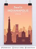 Indianapolis famous city scape.