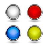 web buttons colorful design set