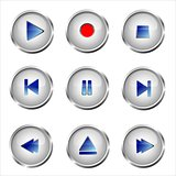 Set of media buttons