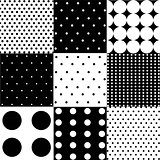 seamless pattern colorful polka dots backgroundseamless black white pattern or background
