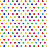 seamless pattern colorful polka dots background