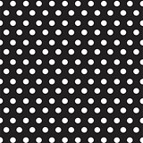 white dots on black background seamless pattern