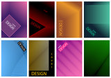 Graphic Cover Design Set in Eight Variations