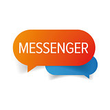 Messenger speech bubble chat icon