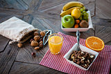 Healthy breakfast on the table