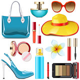 Vector Female Summer Accessories