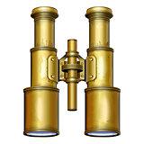 Vector Old Binoculars