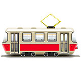 Vector Red Small Tram