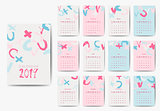 The 2018 calendar template