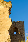 A fragment of the ruined tower in an old fortress.