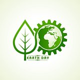 Vector Illustration of Earth Day Greeting - Go Green Concept