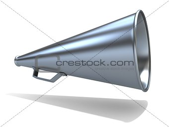 Retro - old style megaphone, isolated on white background. 3D