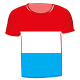 T-shirt with flag luxembourg