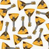 Pattern from music instrument balalaika