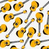 Pattern from music instrument guitar