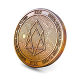 EOS - Cryptocurrency Coin. 3D rendering