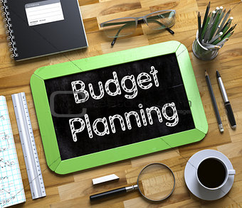 Small Chalkboard with Budget Planning Concept. 3d