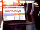 Job Opening Business Analyst. 3D.