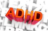 ADHD - Medicine Concept. 3D rendering