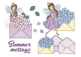 Flower Clipart SUMMER MESSAGE