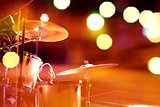 Drum on stage.Night leisure and entertainment