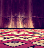 Floor background and tile floor