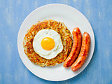 rustic golden swiss rosti potato