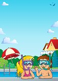 Children snorkel divers theme 2