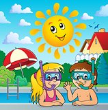 Children snorkel divers theme 3