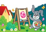 Easter bunny painter theme 3