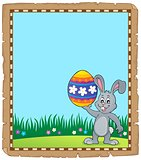 Parchment with Easter bunny topic 3