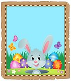 Parchment with lurking Easter bunny 1