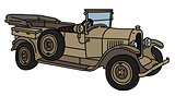 The vintage sand military open car