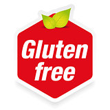 Gluten Free label sign