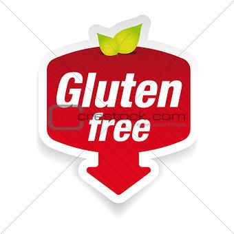 Gluten Free label sign