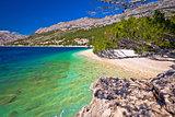 Idyllic beach Punta Rata in Brela view