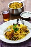 hyderabadi chicken biryani, indian cuisine