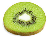 Slice of kiwi fruit isolated on white