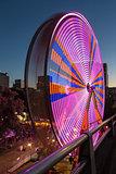 Ferris Wheel at Fun Fair in Downtown Portland Oregon