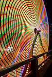 Ferris Wheel  Closeup Night Long Exposure