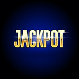 Jackpot golden inscription - casino and big win poster