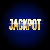 Jackpot golden inscription - casino and big win poster