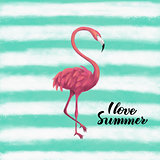 Flamingo I Love Summer