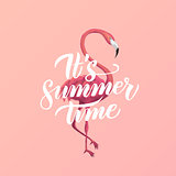 Flamingo Summer Time