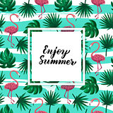 Enjoy Summer Tropical Postcard