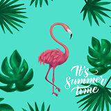 Summer Time Flamingo Card