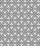 Seamless geometric pattern in black and white geometric lines