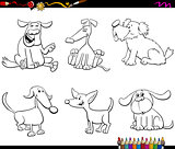 cartoon dog or puppy characters color book