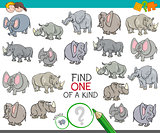 find one of a kind with animal characters