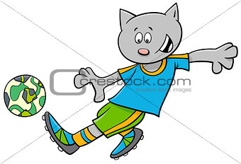 cat football player cartoon character